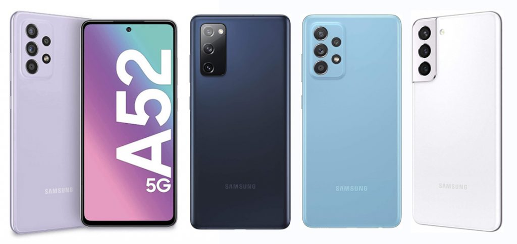 diseños de móviles 5g de samsung