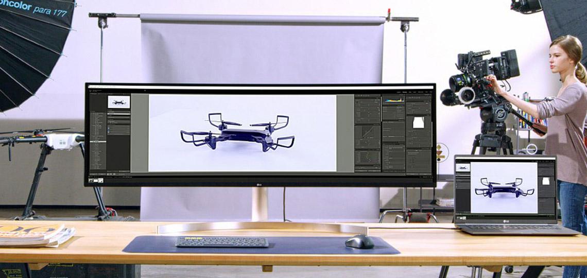 Monitor curvo 49 pulgadas LG 49WL95C-WE