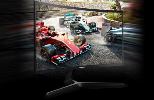 Monitor curvo para gaming Samsung C24RG52FQR